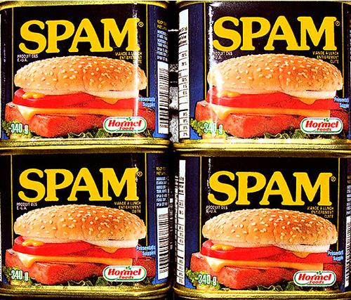 spam blikjes